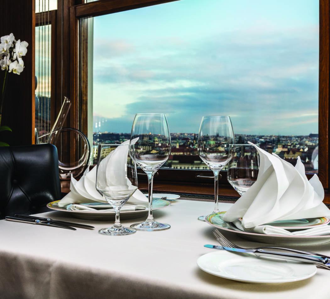 Výhled z restaurace