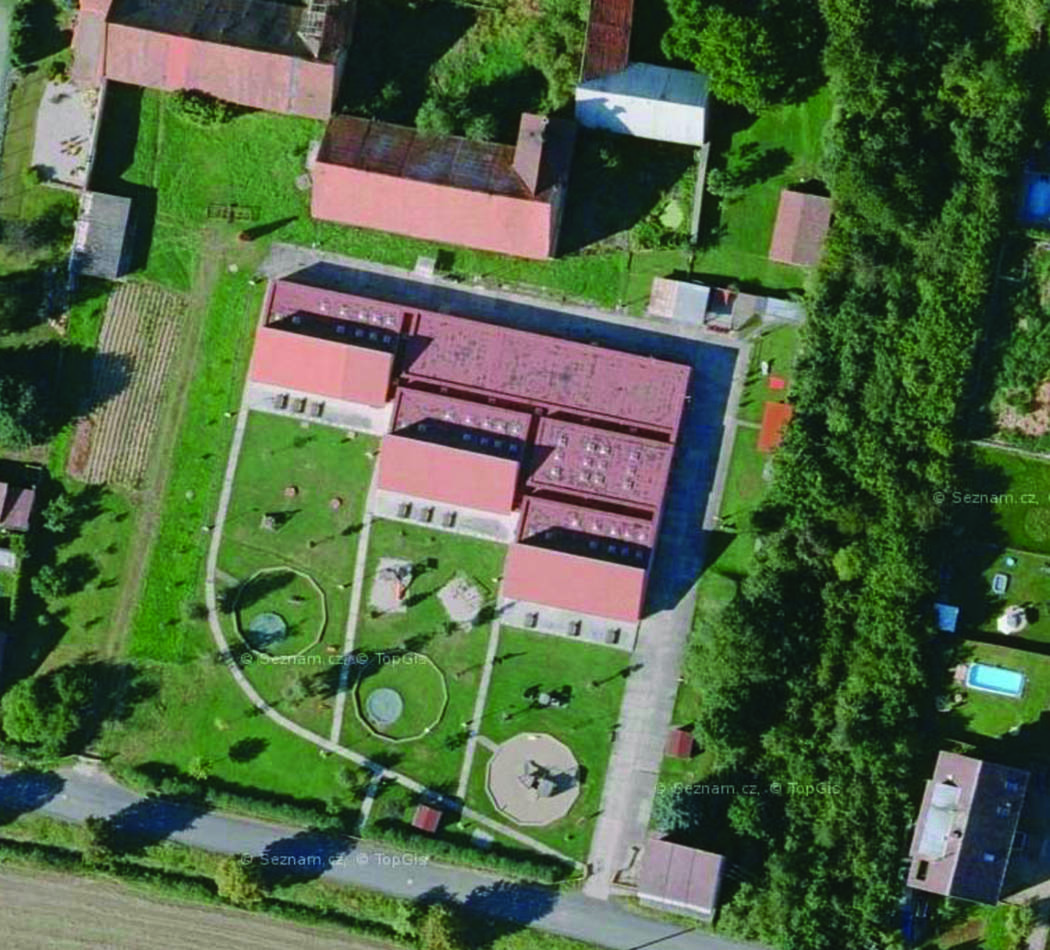 Letecký snímek MŠ